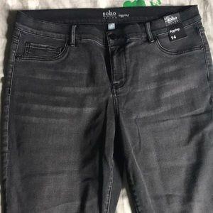 NY & Co black/grey jean legging.  Never worn.